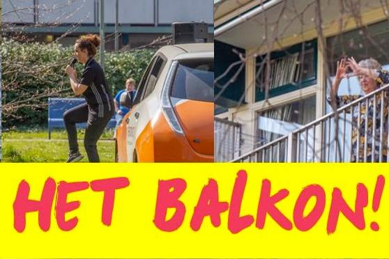 Het 'Balkon Bewegen' is een initiatief waarbij vrijwilligers en professionals langs woon- en zorgcentra gaan om ouderen een gezellige en sportieve ochtend te laten beleven op hun balkon of in de tuin.