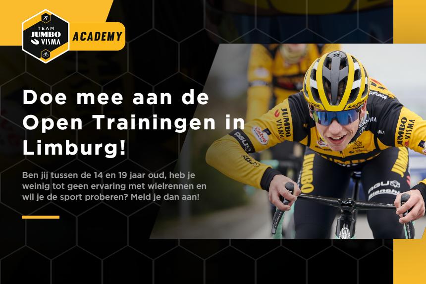 Dit najaar organiseert Team Jumbo-Visma Academy, in samenwerking met Limburg Cycling, Open Trainingen om jongeren kennis te laten maken met de wielersport.